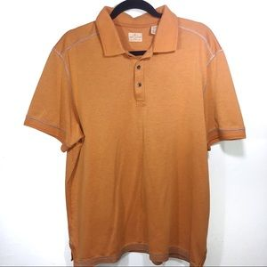 Tommy Bahama Jean Island Crafted Orange Polo Shirt